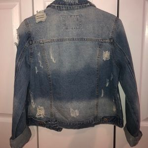 ashley vintage charm Jackets & Coats - Ashley Vintage Charm Distressed Jean Jacket